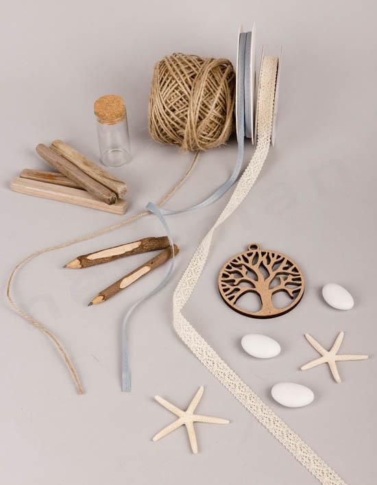 Δες τα υλικά που χρησιμοποιήσαμε για την μπομπονιέρα