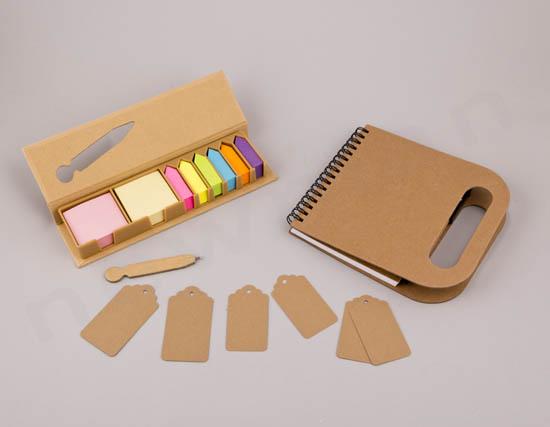 Κασετίνα με στυλό & σημειωματάριο κραφτ