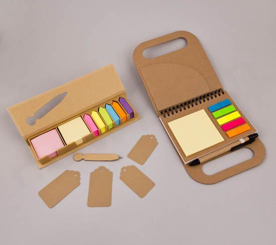 Κασετίνα Post-It με στυλό κραφτ & Notepad