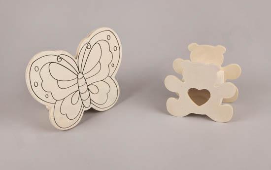 Πεταλούδα και αρκουδάκι κουμπαράς: