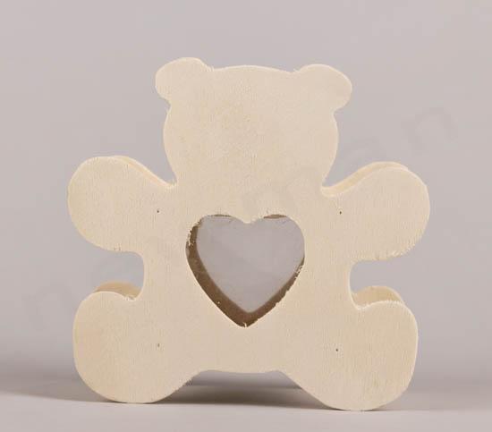 Αρκουδάκι κουμπαράς με παραθυράκι καρδιά