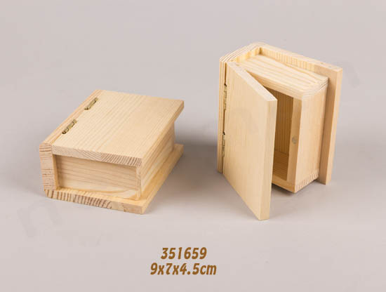 351659 Ξύλινο κουτί βιβλίο