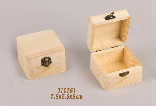 310761 ξύλινο κουτί τετράγωνο