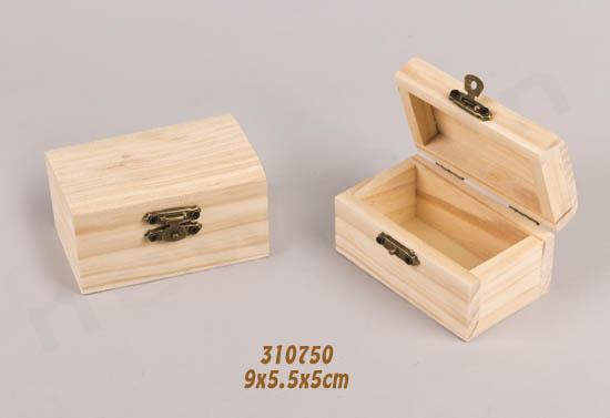 310750 ξύλινο κουτί με μεταλλικό κλείσιμο