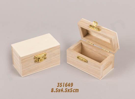 351649 ξύλινο κουτί με χρυσό μεταλλικό κλείσιμο