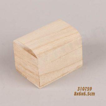 310759 Ξύλινο μπαυλάκι με μαγνήτη