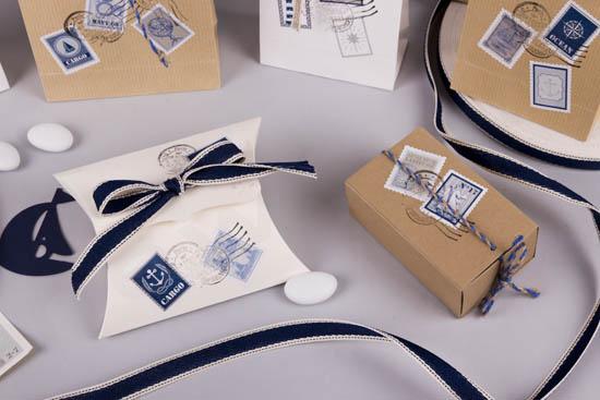 Μπομπέ φάκελος λευκό κουτί για μπομπονιέρα & κραφτ σπιρτόκουτο