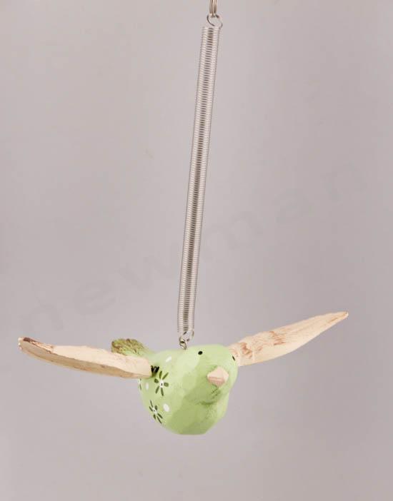 Ξύλινο πουλάκι σπιράλ
