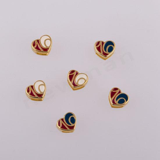 Χρυσές καρδούλες σε κόκινο/λευκό και κόκκινο/μπλε