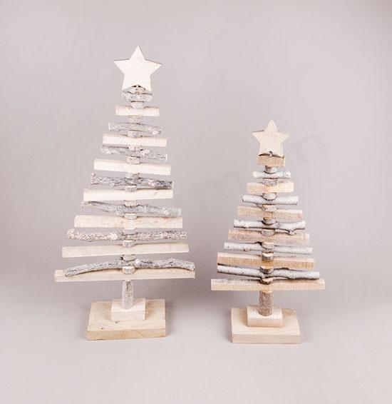 Δεντράκια χριστουγεννιάτικα ξύλινα