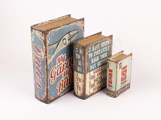"""Κουτιά βιβλία """"My garage my rules"""""""