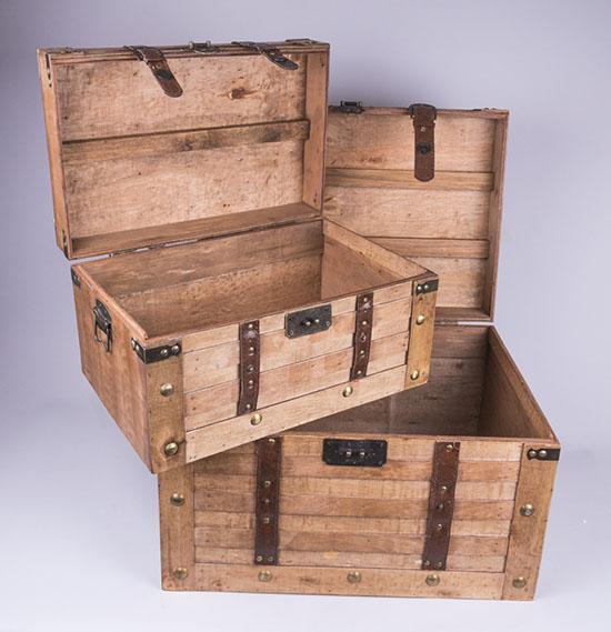 Ξύλινα αποθηκευτικά μπαούλα