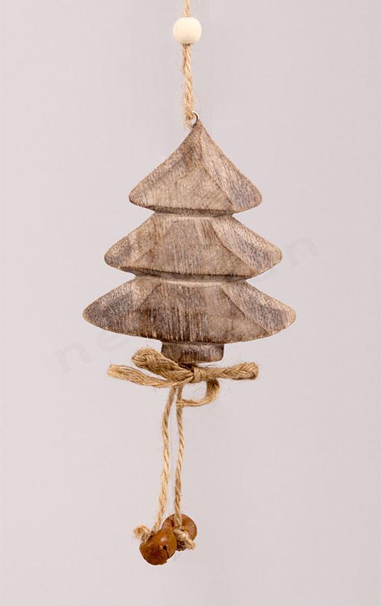 Δέντρο Έλατο ξύλινο στολίδι