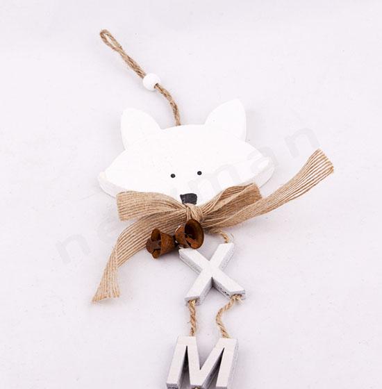 Αλεπού ξύλινο στολίδι 40cm