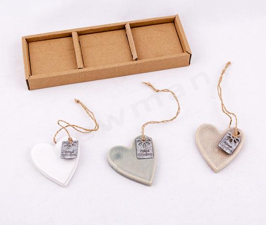 353021 Κεραμικές καρδιές (σετ 3)