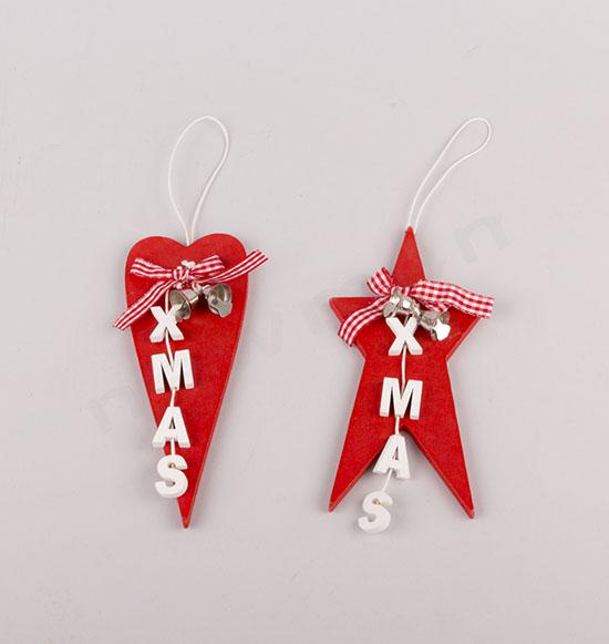 XMAS κόκκινη καρδιά(310936) & κόκκινο αστέρι(310935)