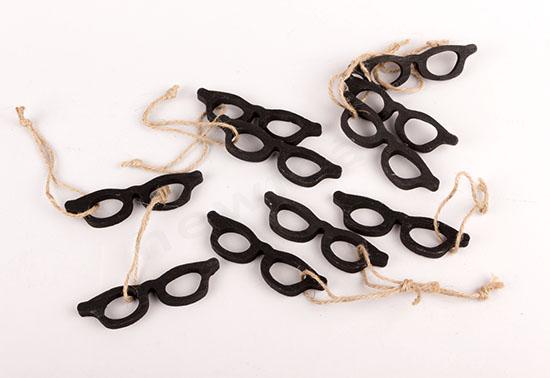 Γυαλιά ξύλινα στολίδια