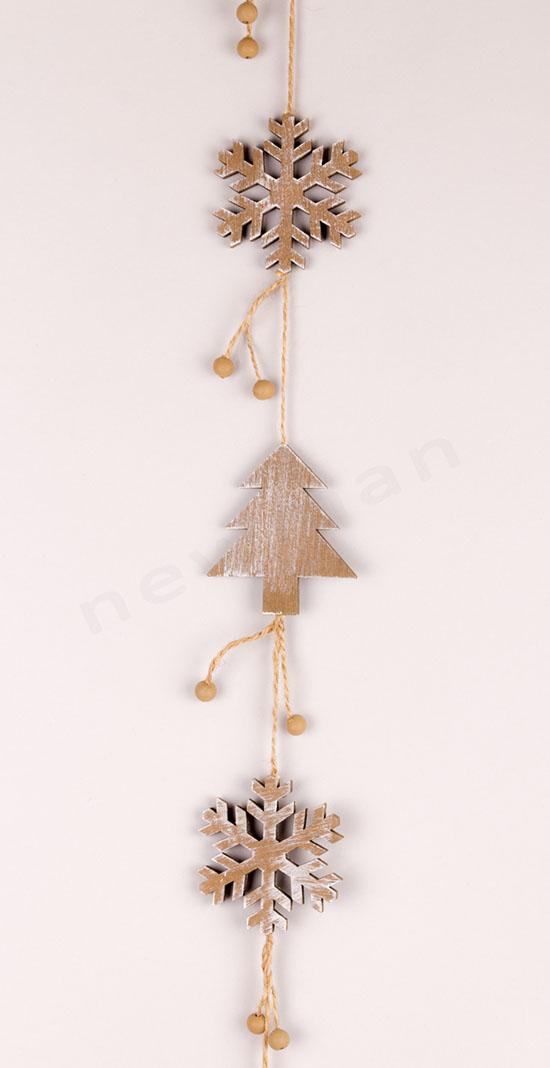 Γιρλάντα ξύλινη δέντρο 103cm
