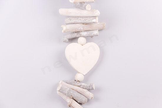 016184 Γιρλάντα ξύλινη με καρδιές