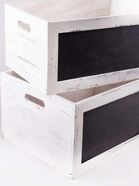 Ξύλινα καφάσια με μαυροπίνακα σε 2 μεγέθη