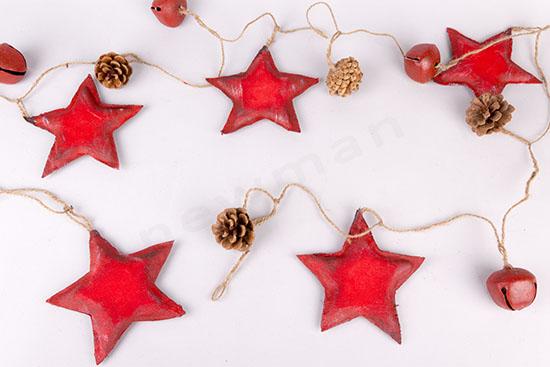 380223 Γιρλάντα με κόκκινα αστέρια