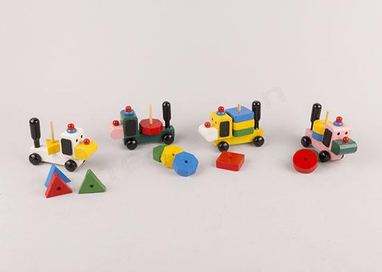 Σκυλάκια πολύχρωμα ξύλινα παιχνιδάκια