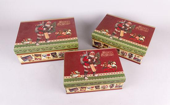 Χριστουγεννιάτικα χάρτινα κουτιά παραλληλόγραμμα