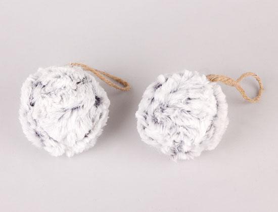 390208 Χειμωνιάτικα στολίδια μπάλες γούνινες