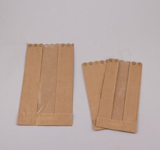 Σακουλακια κραφτ με παράθυρο και μπορντούρα