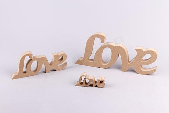 Love ξύλινα 3 μεγέθη