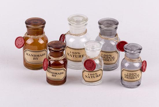 Γυάλινα μπουκάλια 100% NATURE-HANDMADE BY...-NATURAL PRODUCT