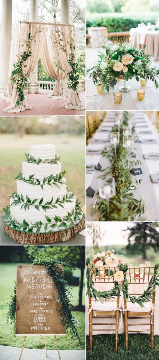 Πράσινο & φύση στο γάμο 2016