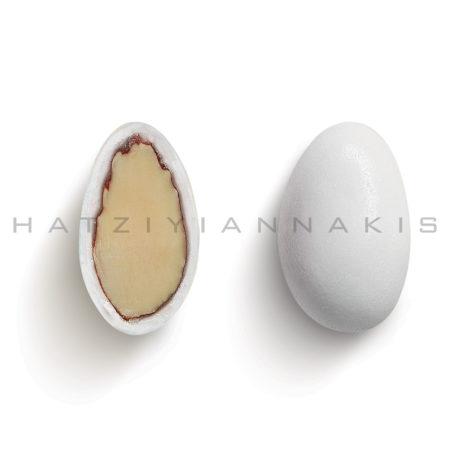 Αμυγδάλου βασικό λευκό γυαλισμένο