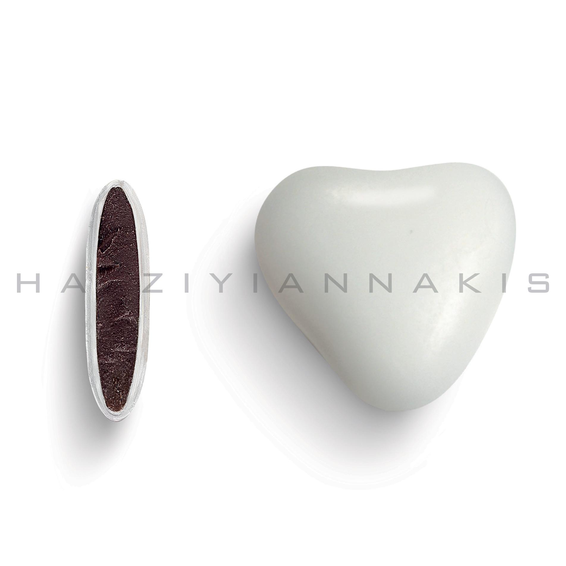 Καρδιά λευκό ματ