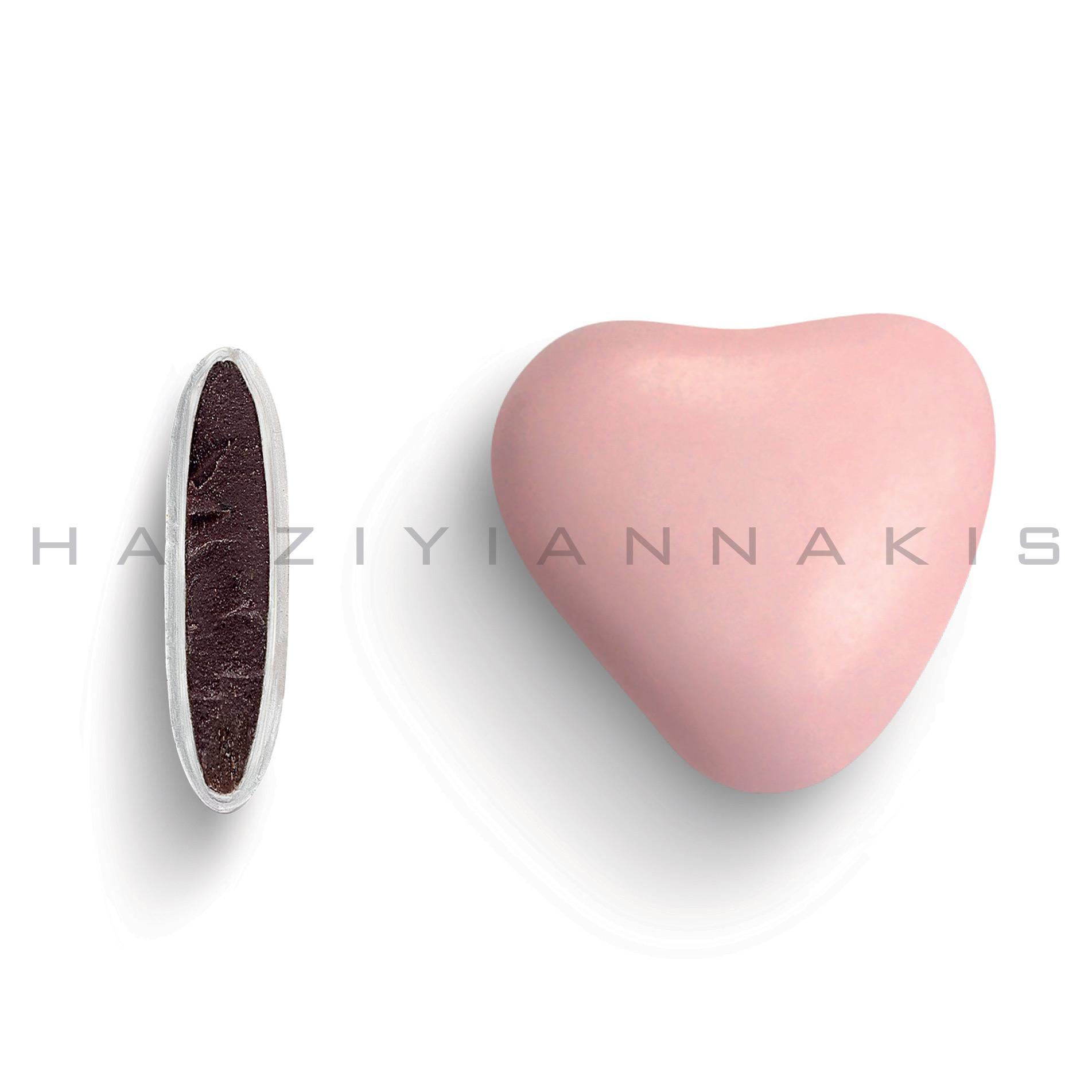 Καρδιά χρώμα ροζ ανοιχτό γυαλισμένο