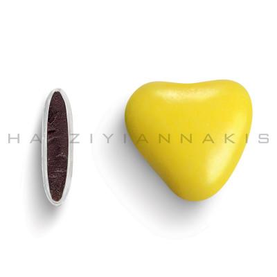 Καρδιά χρώμα κίτρινο γυαλισμένο