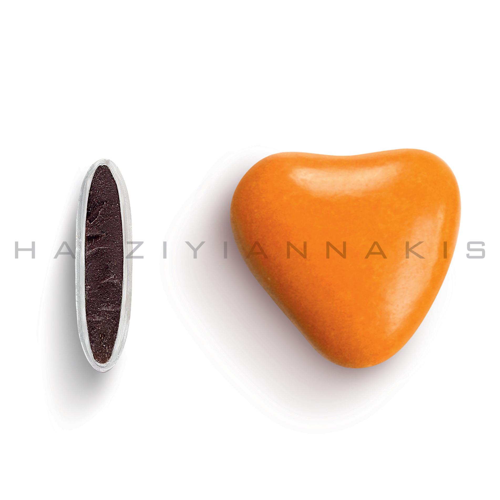 Καρδιά χρώμα πορτοκαλί γυαλισμένο