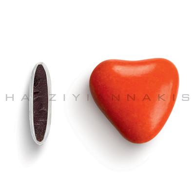 Καρδιά χρώμα κόκκινο γυαλισμένο