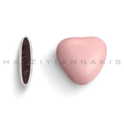 Καρδιά μεσαία χρώμα ροζ ανοιχτό γυαλισμένο