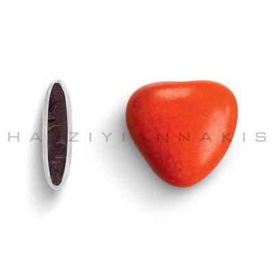 Καρδιά μεσαία χρώμα κόκκινο γυαλισμένο