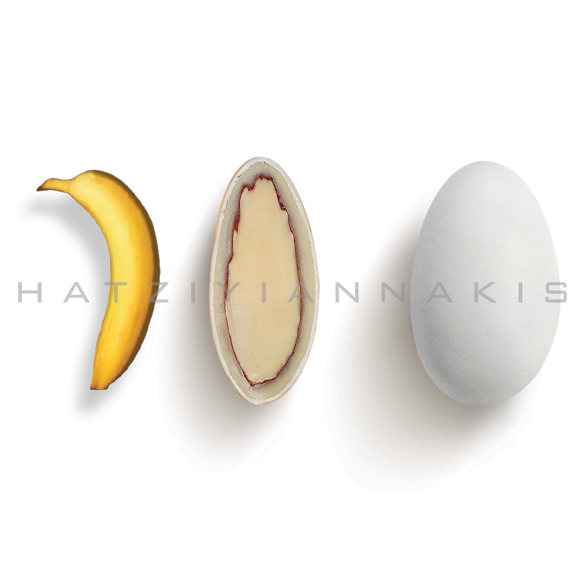 Choco Almond γεύση Μπανάνα κουφέτο λευκό ματ