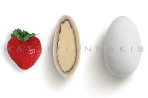 Choco Almond γεύση Φράουλα κουφέτο λευκό ματ
