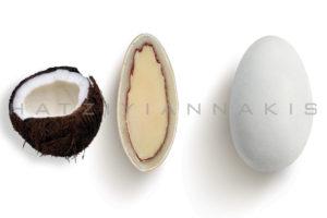 Choco Almond γεύση Καρύδα κουφέτο λευκό ματ