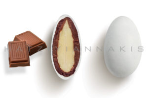Choco Almond Γαλακτος κουφέτο λευκό ματ