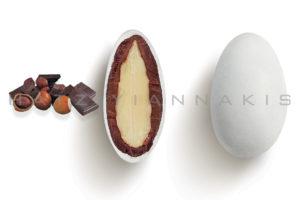 Choco Almond γεύση Gianduia κουφέτο λευκό ματ