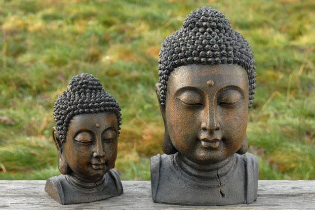 390731 Βούδας διακοσμηιτκό κεφάλι καφέ