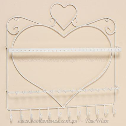 390725 Κοσμηματοθήκη τοίχου Καρδιά 30cm