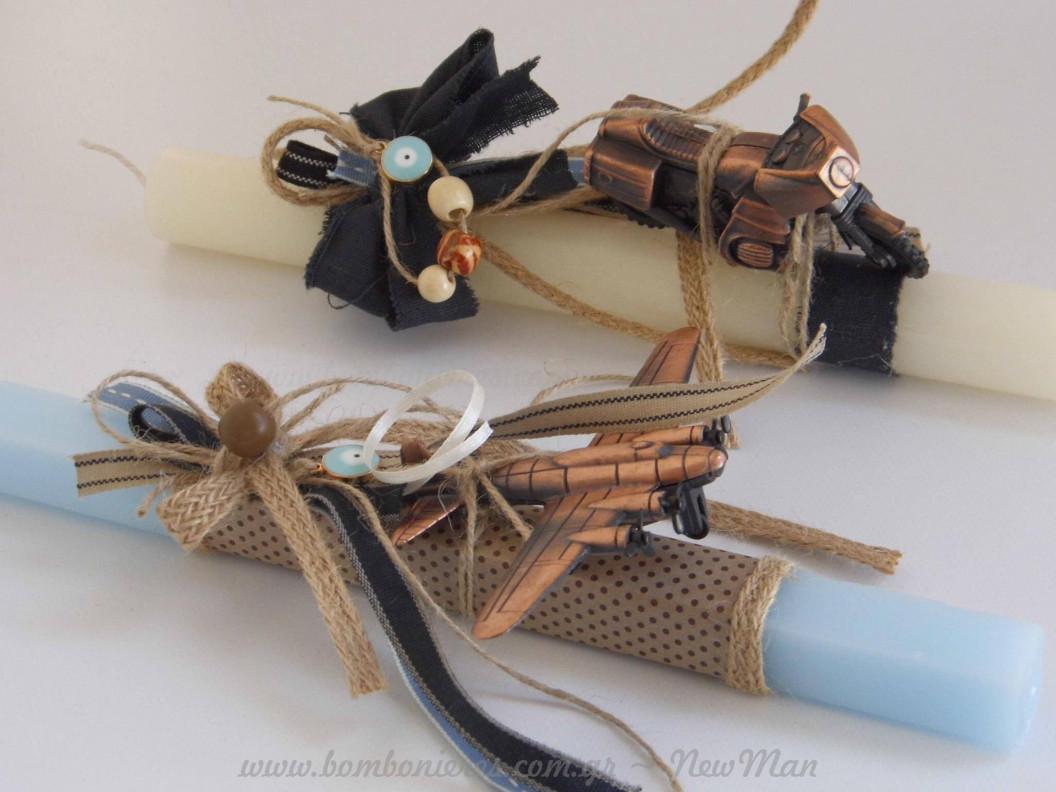 Λαμπάδες με υλικά NewMan από τη Σουζάνα Μεταξά