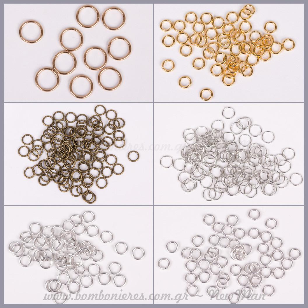 Κρικάκια μεταλλικά εξαρτήματα - κουμπώματα κοσμημάτων