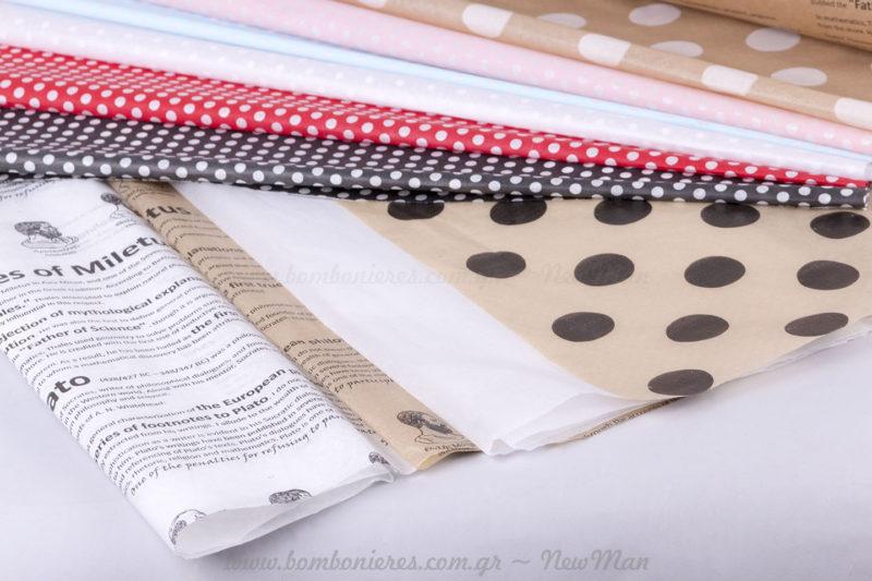 Χαρτιά αφής με σχέδια